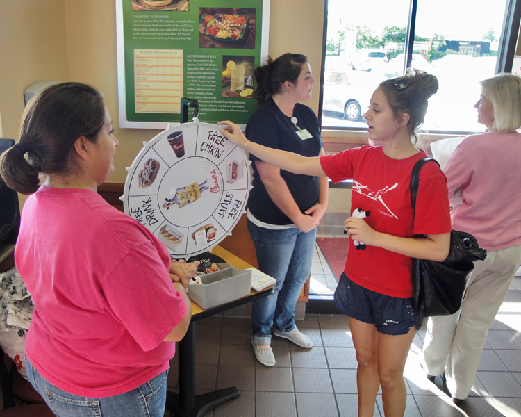 RAD TEch Students Hold Spirit Night at Chic Fil A