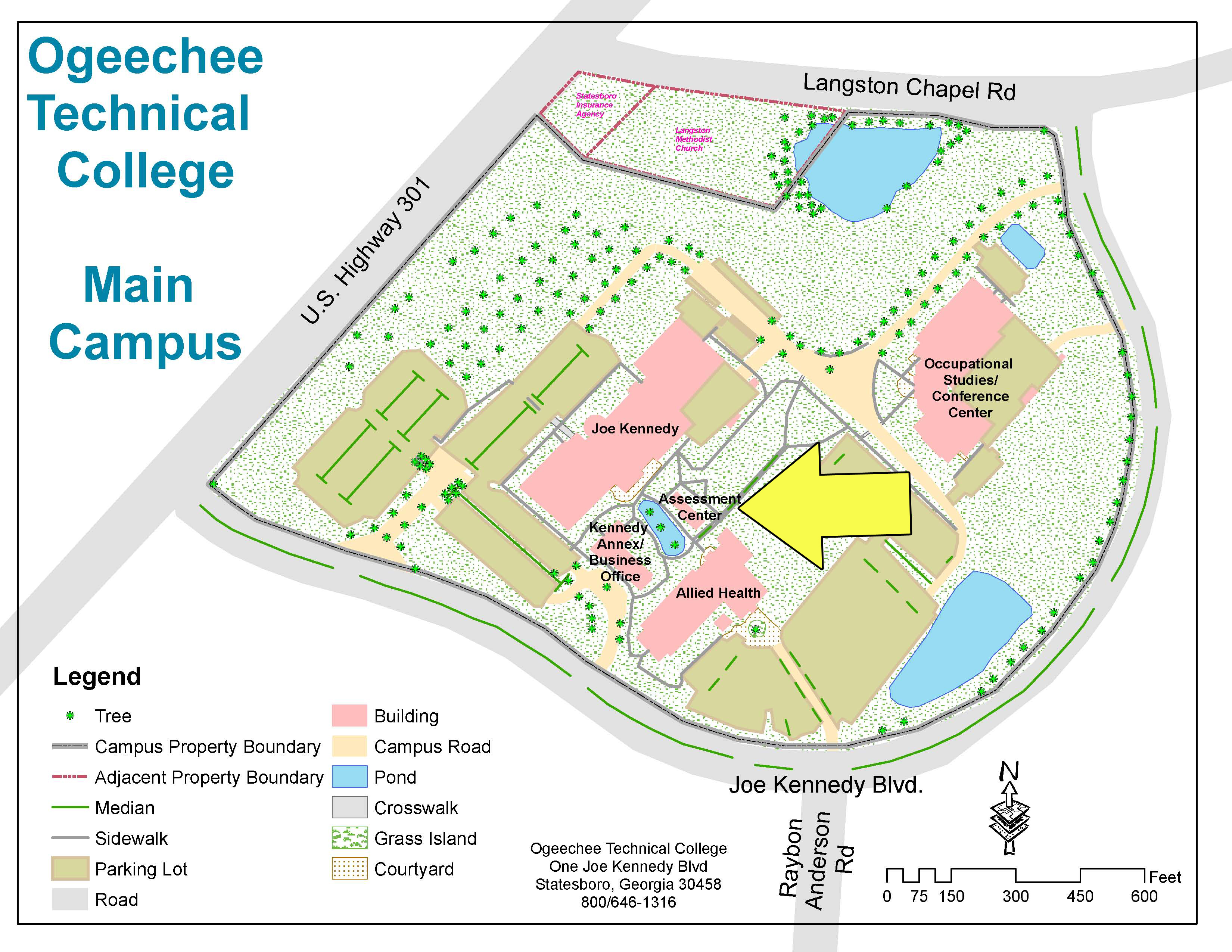Langston University Campus Map.Assessment Home